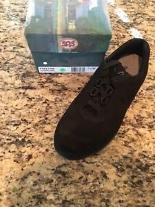 SAS Women's Free Time Charcoal Black 7.5 Wide Walking Shoes