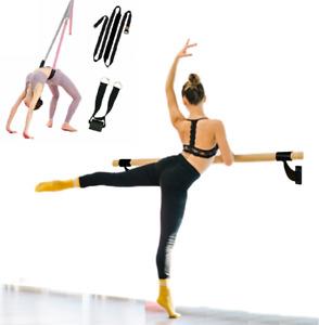 "2"" Single Bar Wood Wall Mount Ballet Barre 8Ft BLK w Door Flexibility Stretching"