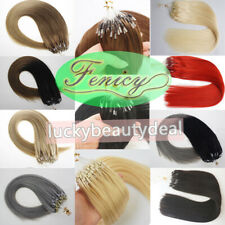 Micro Ring Beads Loop Link Remy Human Hair Extensions Highlight Ombre Thick 1g/s