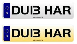 DU13 HAR Cherished Reg Number Plate DUB BUS VW GOLF R POLO T5 T6 GTI HARRY HAZ