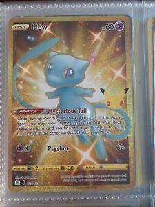 Shining Mew 025/025 Celebrations 25th anniversary secret rare Pokémon MINT