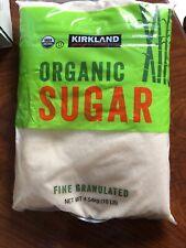 New listing Kirkland Signature Organic Cane Sugar Fine Granulated Raw 10 Lb