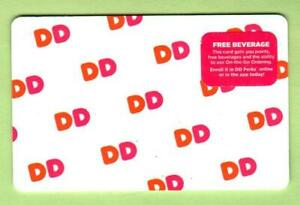 """DUNKIN' DONUTS Rows of """"DD"""" 2018 Gift Card ( $0 )"""