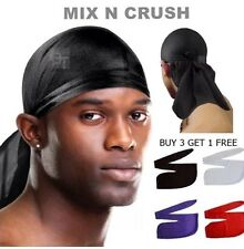 Plain Negro Bandana Biker Durag Pirata Fancy Dress Ciclismo Catering, Chef Hat Gorra Sombrero