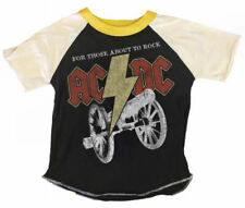 New Rowdy Sprout Cool Boy's Short Sleeves Concert Tee Acdc 8 10 12
