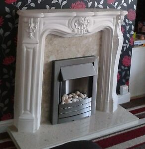 F17 Petite Louis Fire Surround in Plaster - BIRMINGHAM COLLECTION ONLY
