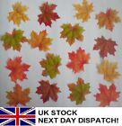 50pcs Fall Fake Silk Leaves Wedding Favor Autumn Maple Leaf Decorations