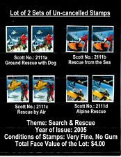 "CANADA STAMPS - Lot of 2 Sets ""Search & Rescue"" Stamps, Uncancelled, VF, CV=$4"