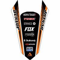 Attack Graphics Turbine Rear Fender Decal Orange