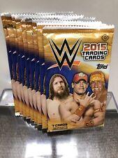 9x.  2015 Topps WWE Wrestling Factory Sealed Hobby Pack.  * Lot Of 9 Packs!
