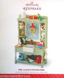 Hallmark 2014 Mrs.Claus's Kitchen Sink Signed by Robert Chad