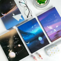 """""""Night Fly"""" 1pc Hard Cover Diary Beautiful Colored Papers Study Notebook Journal"""