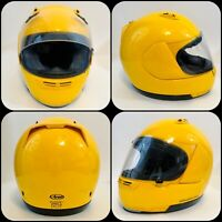ARAI QUALITY QUANTUM F MOTORCYCLE HELMET SNELL & DOT APPROVED YELLOW SIZE SMALL