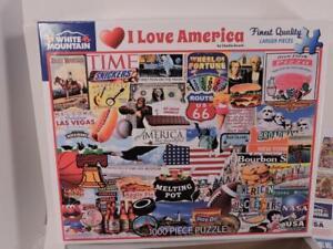 White Mountain I Love America 1000 Piece Jigsaw Puzzle 24 x 30 Charlie Girard