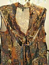 Escada - Silk Multi-Colored Sleeveless Blouse (NWOT)