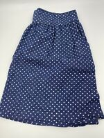 Levi's Mini Skirt Chambray With White Polka Dot Size Small With Pockets