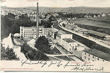 24164 AK Zschopau Erzgebirge Fabrik und Bahnhof 1904