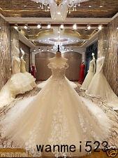 Cinderella A-Line Wedding Dress Gothic Luxury Bridal Gown Cathedral Train Custom