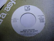 Leona Williams I'm Almost Ready / The End of the World 45 rpm Elektra VG+