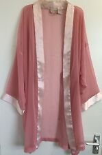 Victoria's Secret Vintage Pale Pink Sheer Kimono Robe Cover-Up Small Petite
