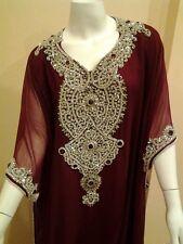 Beautiful Dubai Caftan Dress Jilbab Islamic Kheleeji Sequins Arabian Abaya 11012