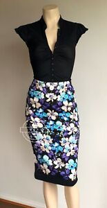 REVIEW Conservatory Floral Pencil Skirt Size 6