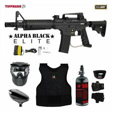 Tippmann US Army Alpha Elite Tactical Protective HPA Paintball Gun Package