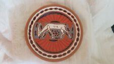 """Vintage Plate Kostas Keramik Rhodes Greece 7"""" Art Pottery Greek Deer Terra Cotta"""