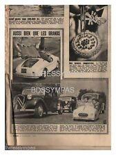 1956 DOCUMENT (ref DAR 387)  AUTO :  AUTO POUR ENFANTS   1p