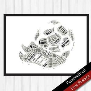 Boys Gifts. Personalised Football Boys Gift. Birthday Football Art. PRINT ONLY