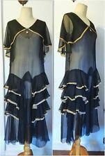 Vintage 1920s dress gown silk chiffon slip dress overdress gatsby flapper