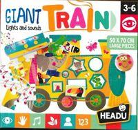 Headu IT20386 Trenino Elettronico Gigante Montessori, giochi didattici educativi