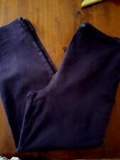 GORDAN SMITH B.A.S.I.C. Ladies Stretch Plum Purple Pants Size 12 GUC