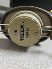 Telex Headphones 610 Monitors Brown 1/4 in. Plug Retro Audio 6.3mm