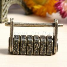1x Password Padlock Chinese Zodiac Keyed Lock Vintage Cabinet Furniture Hardware