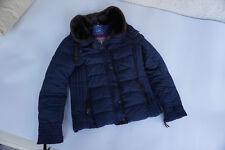 TOM TAILOR Damen Mädchen Winter Jacke Steppjacke mit Fell Kragen Gr.M dunkelblau