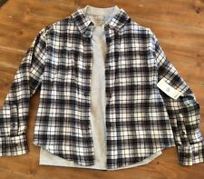 Boys Shirt Combo Outfit ~ Flannel & T-Shirt ~ Gray ~ Size 6/7 ~ Faded Glory