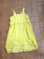 "Girl's""DKNY""Green Lined  100%Rayon/Lace Cotton  Summer Dress size 10 SUPER CUTE!"
