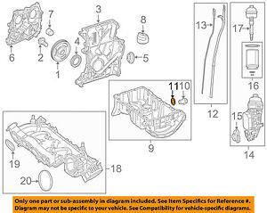 MERCEDES OEM 12-15 C350 3.5L-V6 Engine Oil Pan-Drain Plug Gasket 007603014106