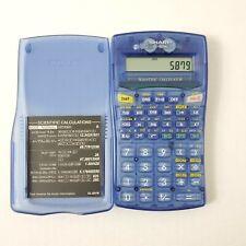 Sharp EL-501W Blue/Transparent Office Equipment Scientific Calculator