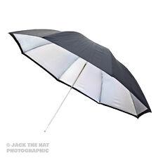 "24"" Pro Studio Flash Umbrella - Black / Silver Reflector Brolly. 60cm Diameter."