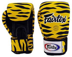 Fairtex Muay Thai Boxing Gloves BGV1 Wild Animal Tiger Training Sparring MMA K1