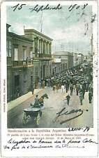 VINTAGE POSTCARD - PERU: LIMA 1908 - MANIFESTACION a la REPUBLICA ARGENTINA