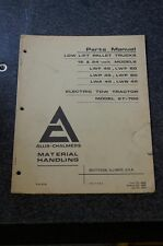 Allis-Chalmers Pallet Truck Electric Tow Tractor Parts Manual 12 & 24 Volt model