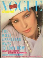 MAY 1984 BRITISH VOGUE vintage fashion magazine