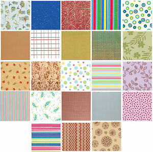 Printed Patterned Tissue Wrapping Paper luxury 5 sheets - 30 more you choose