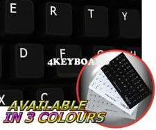 ENGLISH US NON-TRANSPARENT KEYBOARD STICKER BLACK