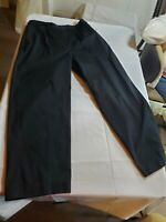 Talbots NWT Black Career Work Basic Cotton Pants Extra Buttons Size 16