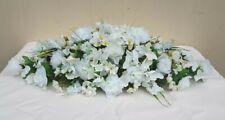 Large ivory flower arrangement, wedding top table, roses, hydrangeas, room decor