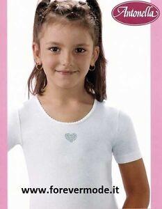 3 Maglie bambina Antonella manica corta girocollo in cotone con ricamo - 510200
